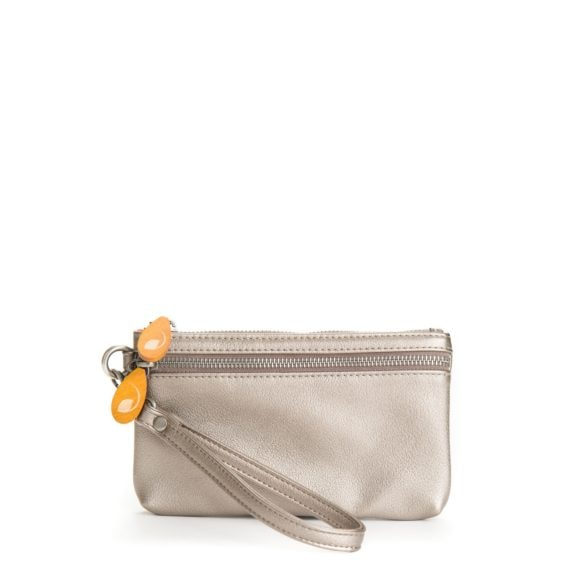 metallic vegan leather purse