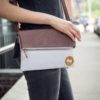 eco friendly purse with organic cotton and vegan leather