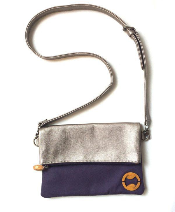 canvas crossbody bag & faux leather purse