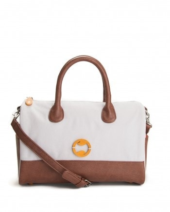 Heights Shoulder Bag in Stone Front View