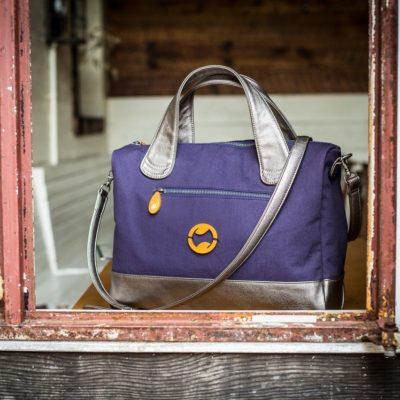 vegan messenger bag and eco-friendly work tote