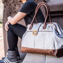 minimalist gym bag and yoga bag with organic cotton| @canopyverde