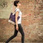 purple bucket tote and eco friendly purse | @canopyverde