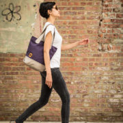 purple bucket tote and eco friendly purse   @canopyverde