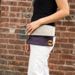foldover crossbody bag with organic cotton