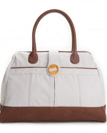 gray overnight bag and weekend bag
