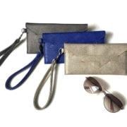 envelope wallet with wristlet strap