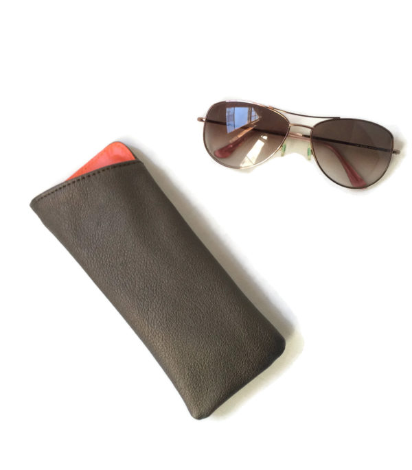 Sunglass case in vegan leather