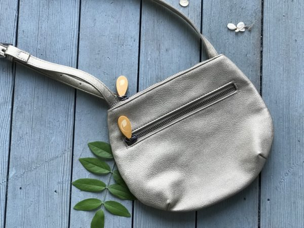 vegan crossbody in gold metallic