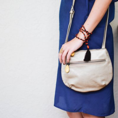 vegan leather crossbody purse in metallic gold