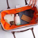 organic cotton travel bag and vegan weekender bag