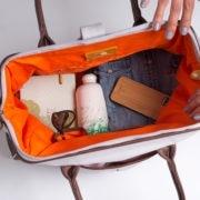 organic cotton travel bag and weekender