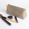 gold cosmetics bag and makeup pouch