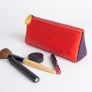red pencil case and pouch with zipper