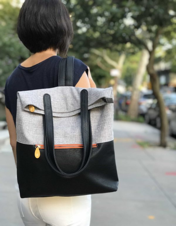 travel backpack for women, black vegan leather