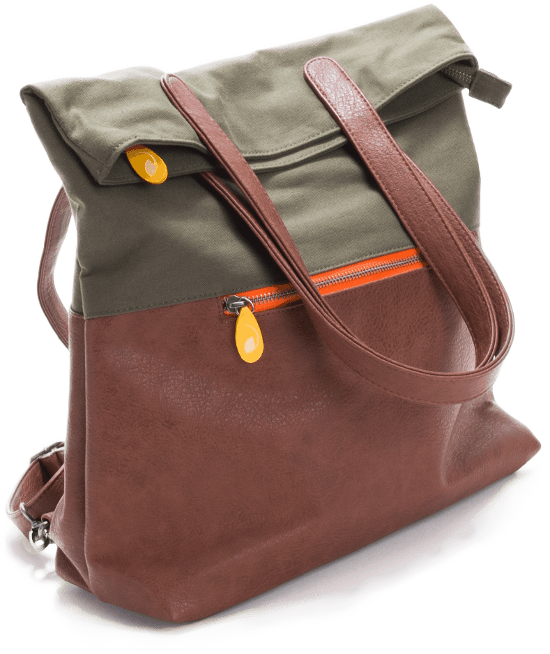 vegan backpack in olive green