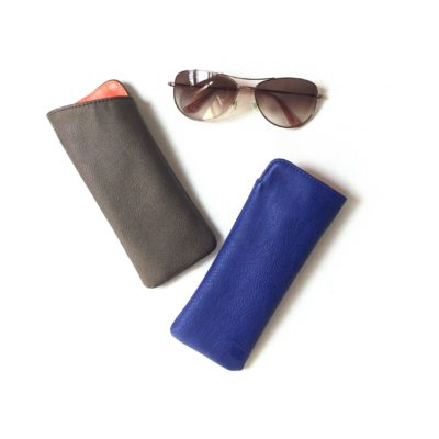 sunglasses case in vegan leather