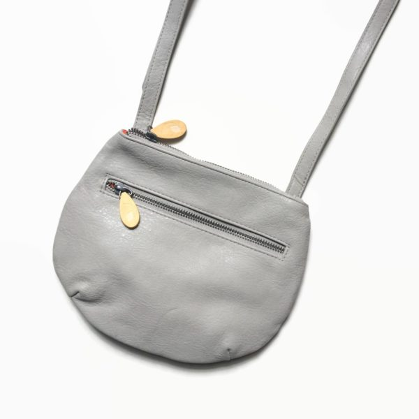 vegan leather crossbody bag in gray