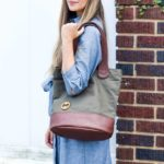 womens laptop tote with organic cotton and vegan leather