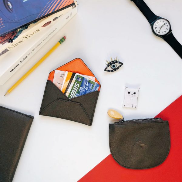cruelty free gift set, vegan leather wallet
