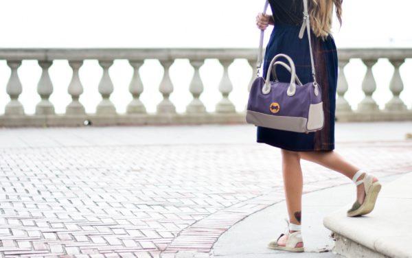 vegan designer bag with eco-friendly organic cotton