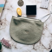 coin purse and vegan pouch