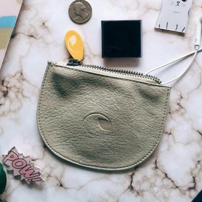 change purse and headphone holder