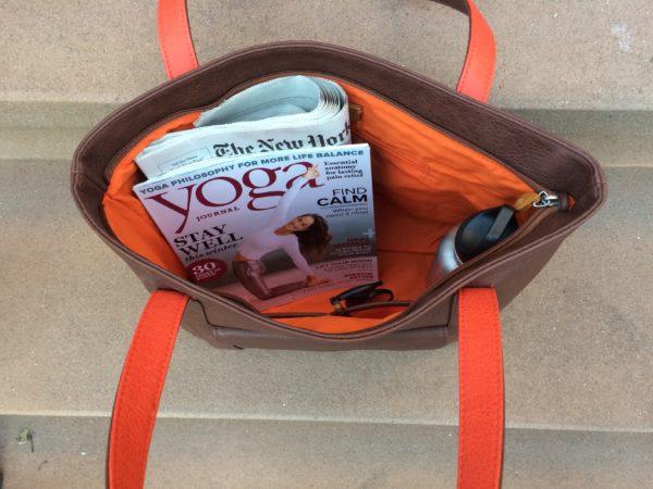 vegan leather bag and work tote