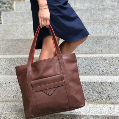 vegan leather handbag and laptop bag for women