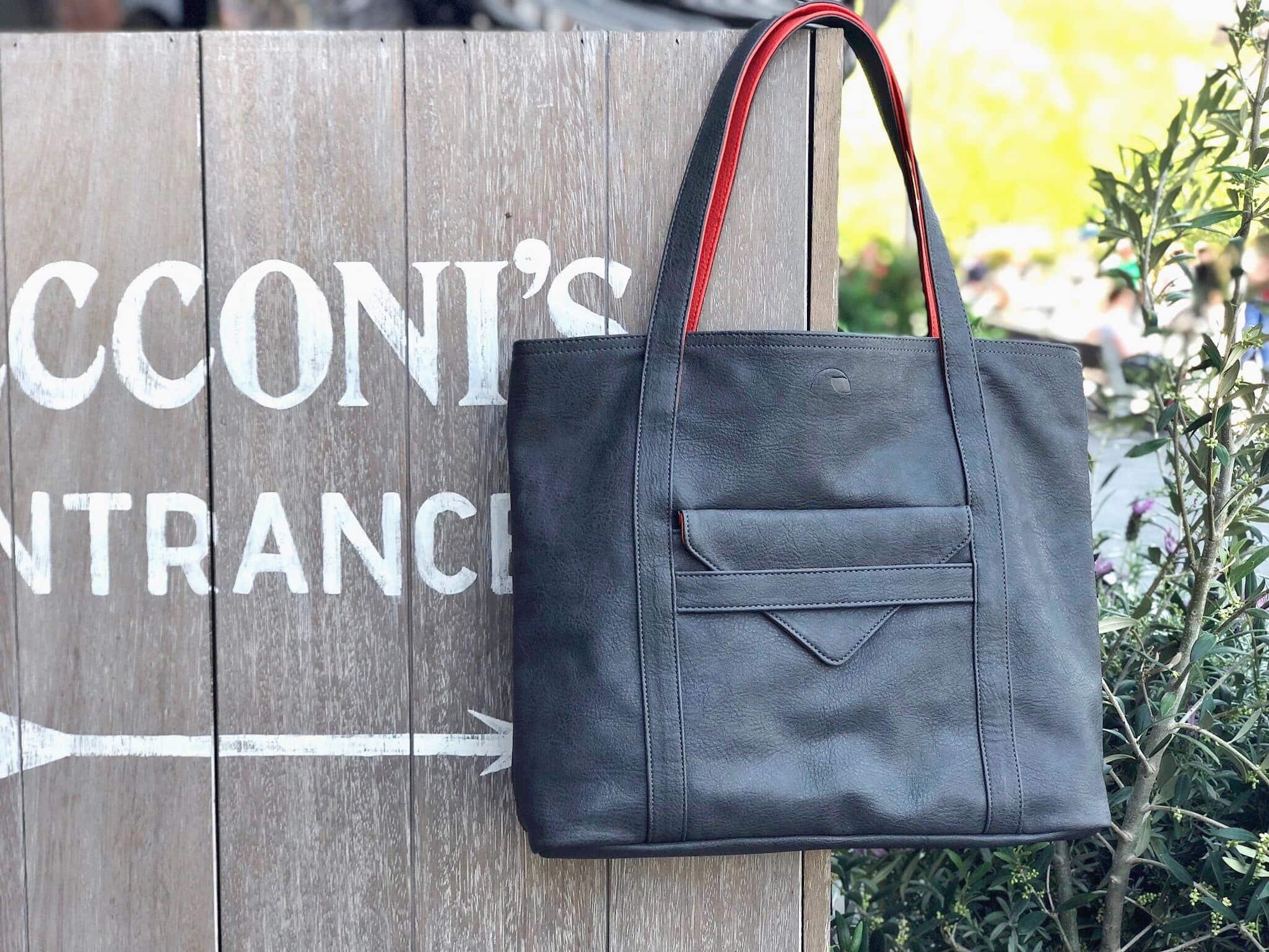 vegan leather handbag and tote purse