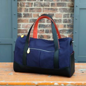 mens travel bag and weekender with vegan leather