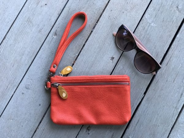 orange red wristlet