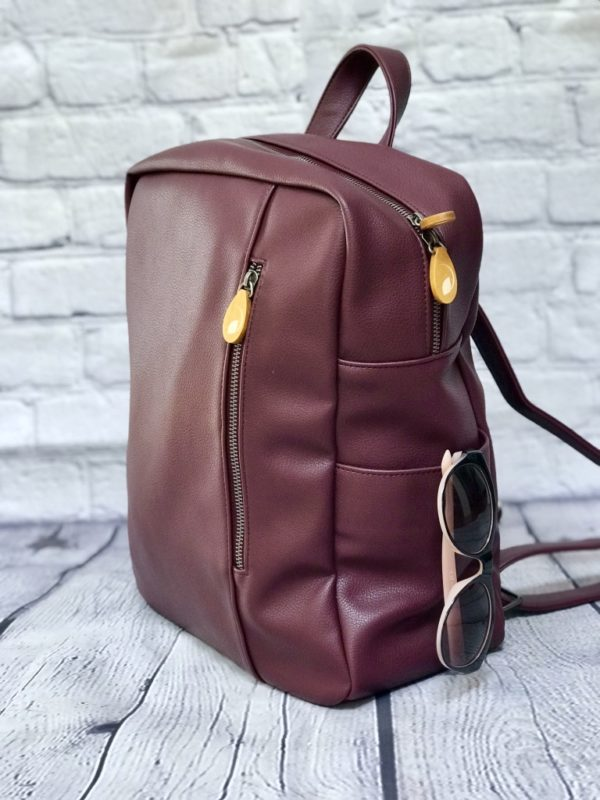 Burgundy Vegan Backpack