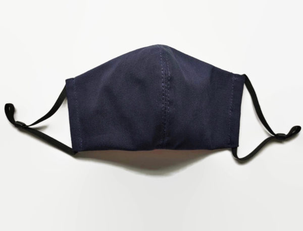 Navy blue organic cotton face masks, unisex