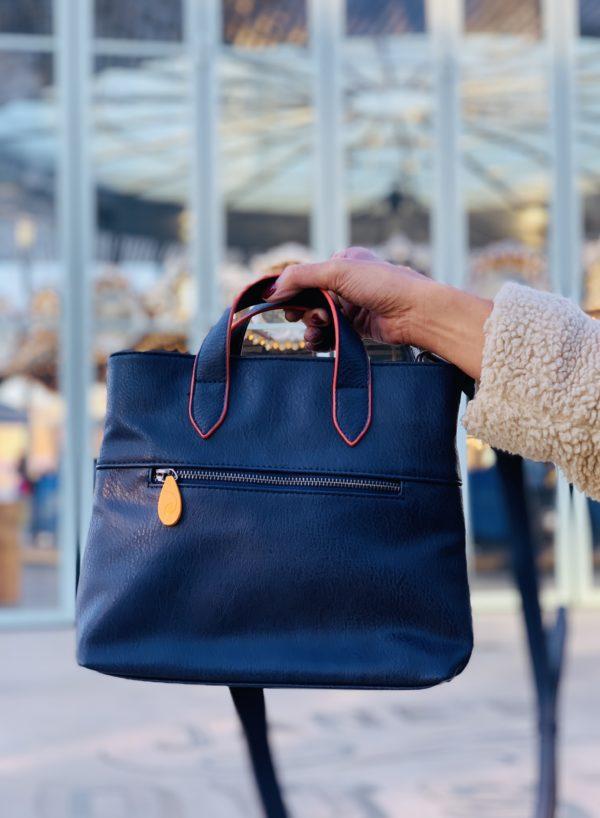 navy purse and crossbody bag