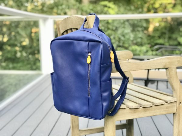 vegan backpack in cruelty-free leather