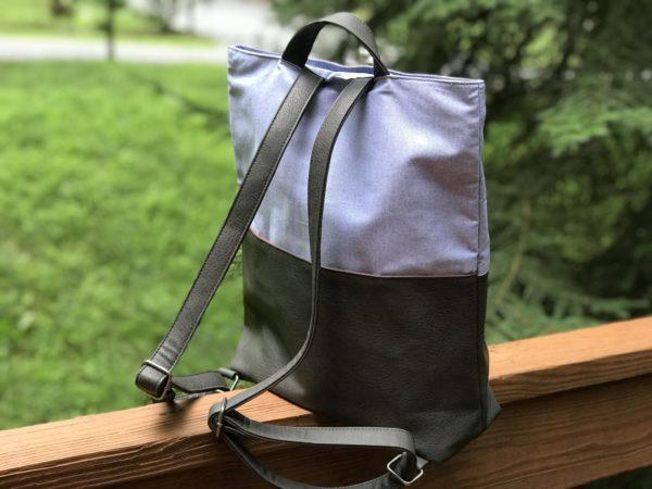 vegan backpack with trolley sleeve