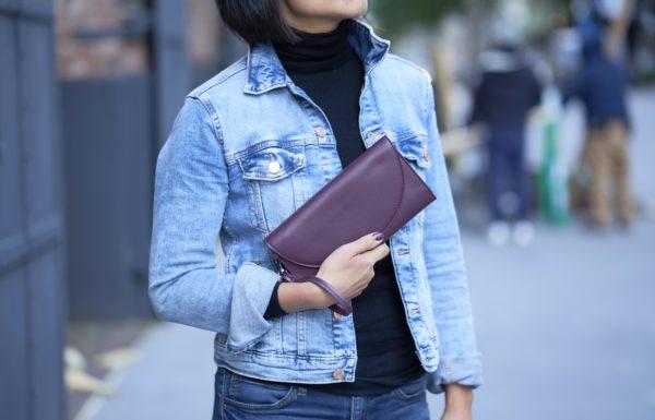 accordion wallet in burgundy red vegan leather