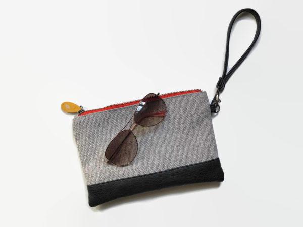 vegan leather purse with detachable wristlet strap