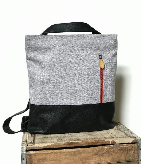 gray vegan convertible backpack